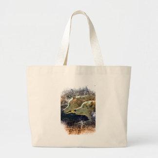 Wellcoda Wild Nature Wolf Pack Lone Grey Large Tote Bag