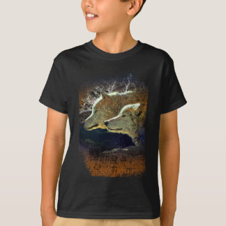 Wellcoda Wild Nature Wolf Pack Lone Grey T-Shirt