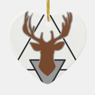 Wellcoda Wild Stag Deer Animal Hunt Month Christmas Ornament