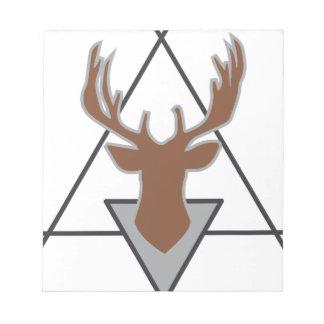 Wellcoda Wild Stag Deer Animal Hunt Month Notepad