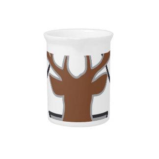 Wellcoda Wild Stag Deer Animal Hunt Month Pitcher