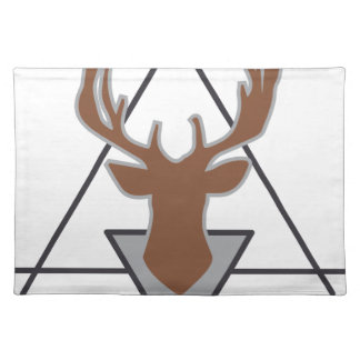 Wellcoda Wild Stag Deer Animal Hunt Month Placemat