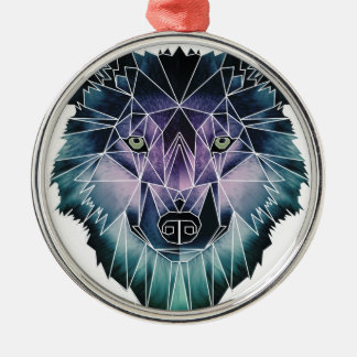 Wellcoda Wild Wolf Face Pack Animal Life Christmas Ornament