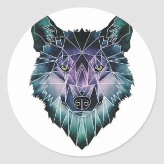 Wellcoda Wild Wolf Face Pack Animal Life Classic Round Sticker