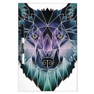 Wellcoda Wild Wolf Face Pack Animal Life Dry Erase Board