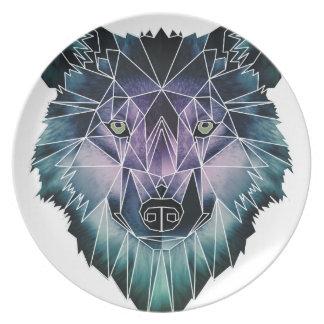 Wellcoda Wild Wolf Face Pack Animal Life Plate