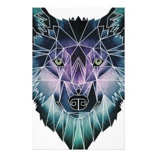 Wellcoda Wild Wolf Face Pack Animal Life Stationery
