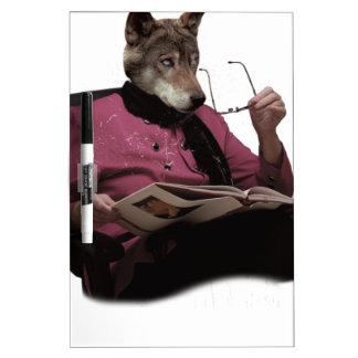 Wellcoda Wolf Head Grandmother Mutant Dry Erase Board