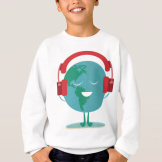 Wellcoda World Beats Music Global Tune Sweatshirt