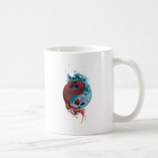 Wellcoda Yin Yang Skull Earth Planet Fire Coffee Mug