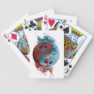 Wellcoda Yin Yang Skull Earth Planet Fire Poker Deck