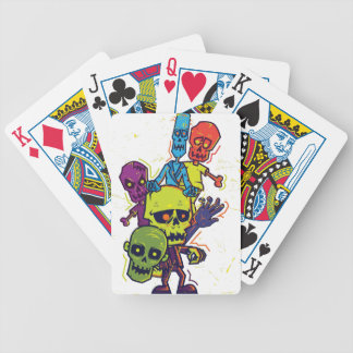 Wellcoda Zombie Apocalypse Monster Family Bicycle Playing Cards