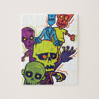 Wellcoda Zombie Apocalypse Monster Family Jigsaw Puzzle