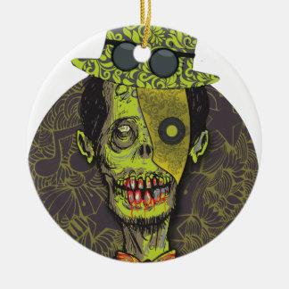 Wellcoda Zombie Dead Monster Scary Creepy Round Ceramic Decoration