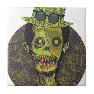 Wellcoda Zombie Dead Monster Scary Creepy Tile