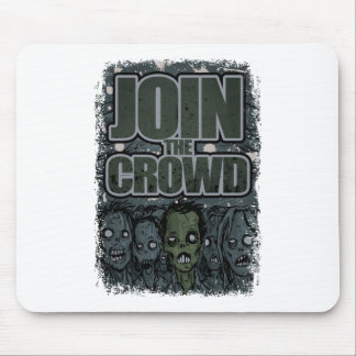 Wellcoda Zombie Monster Crowd Dead Scary Mouse Mat
