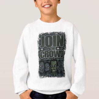 Wellcoda Zombie Monster Crowd Dead Scary Sweatshirt