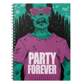 Wellcoda Zombie Monster Party Scary Dead Spiral Notebook