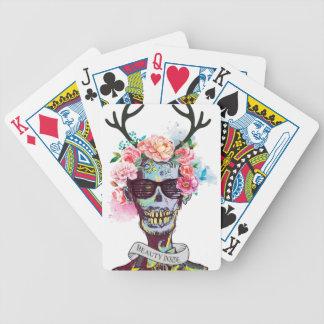 Wellcoda Zombie Skull Skeleton Horror Bicycle Playing Cards