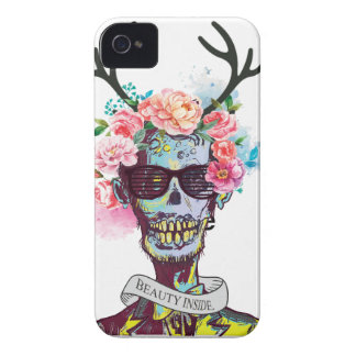 Wellcoda Zombie Skull Skeleton Horror iPhone 4 Case