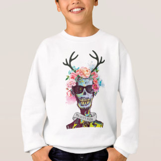 Wellcoda Zombie Skull Skeleton Horror Sweatshirt