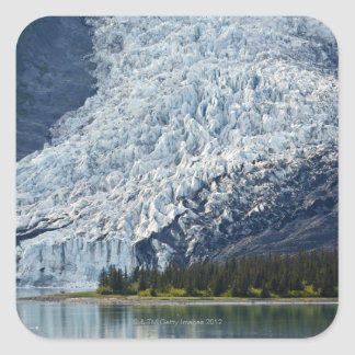 Wellesley Glacier in College Fjord Square Sticker