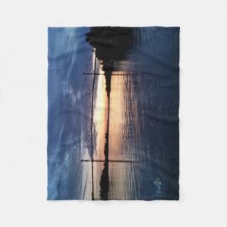 Wellesley Island Bridge Sunset blanket