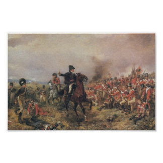 Wellington at Waterloo Poster