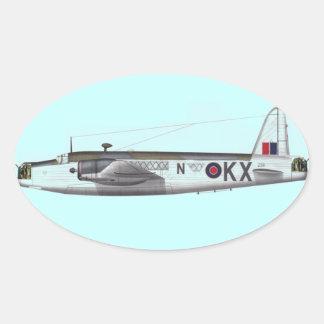 wellington british bomber oval sticker