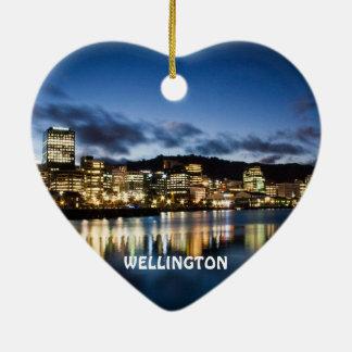 Wellington New Zealand Heart Christmas Ornament