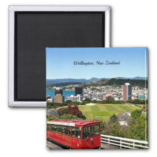 Wellington, New Zealand Square Magnet
