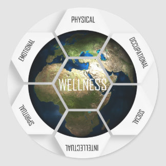 Wellness Dimensions Round Sticker