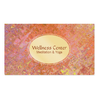 Wellness | Gold , Stained Glass Pack Of Standard Business Cards