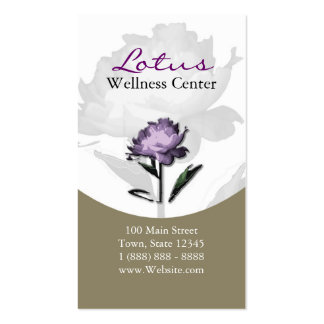 Wellness, Spa & Beauty Services Business Card