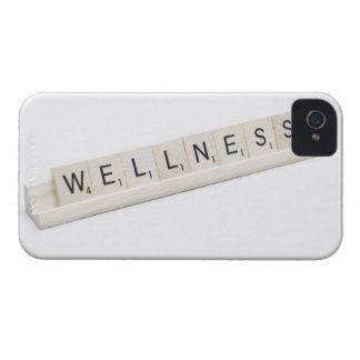 Wellness Spelled On A Word Board Game. Case-Mate iPhone 4 Case