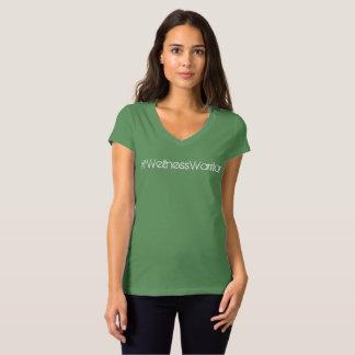 #Wellness Warrior Womens cap sleeve v-neck Tshirt