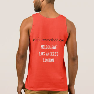 #WellnessWarrior Gym Tank Mens Red
