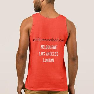#WellnessWarrior Gym Tank Mens Red