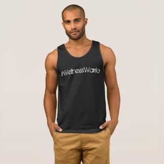 #WellnessWorrier Gym Tank Mens Black