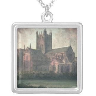 Wells Cathedral: view from the South-east Silver Plated Necklace