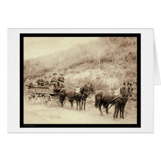 Wells Fargo Deadwood Treasure Wagon SD 1890 Greeting Card
