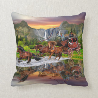 WELLS FARGO STAGECOACH CUSHION