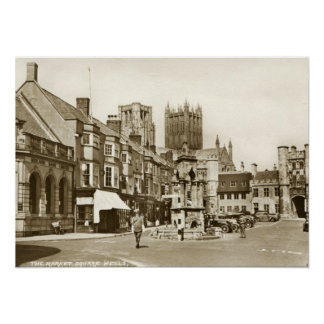 Wells, Somerset, England Vintage Posters