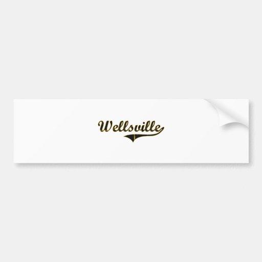 Wellsville Missouri Classic Design Bumper Sticker