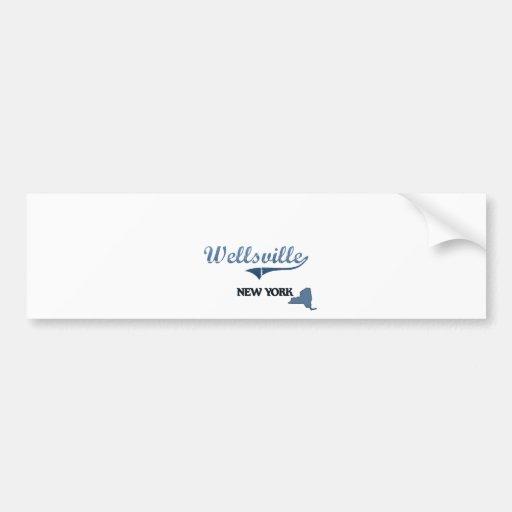 Wellsville New York City Classic Bumper Sticker