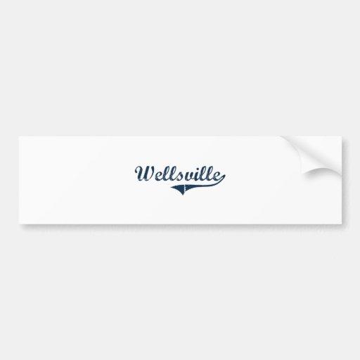 Wellsville New York Classic Design Bumper Stickers