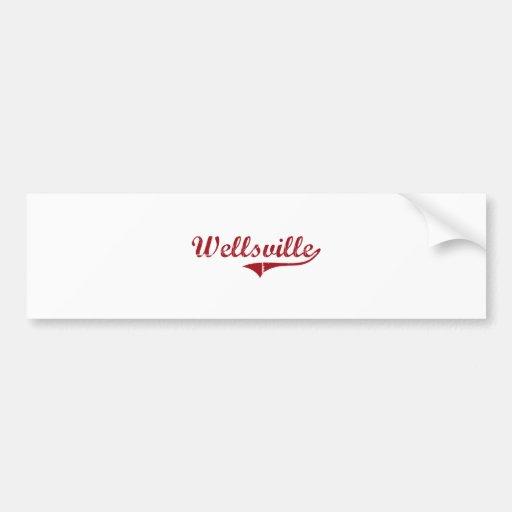 Wellsville Ohio Classic Design Bumper Sticker