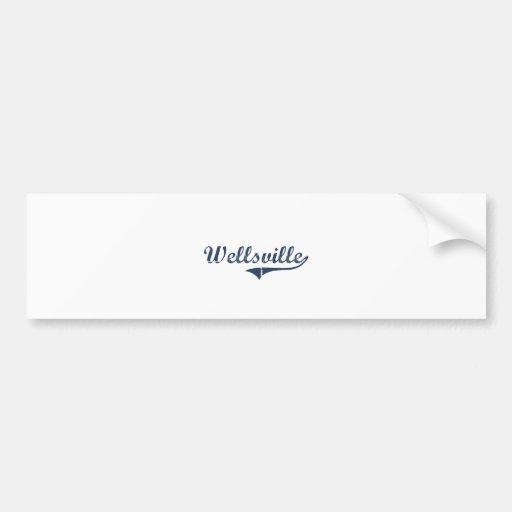 Wellsville Utah Classic Design Bumper Stickers