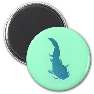 Wels catfish 6 cm round magnet