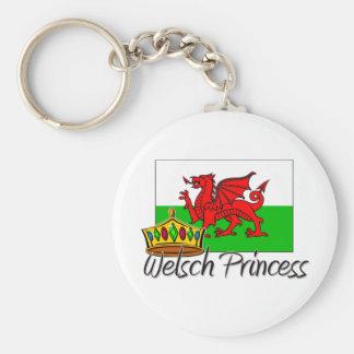 Welsch Princess Basic Round Button Key Ring